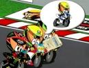 Valentino Rossi wechselt zu Yamaha gut gezeichnet von Los MiniDrivers Comic