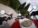 Valvestino Straße zwischen Molino di Bollone und Navazzo mit Ducati Monster