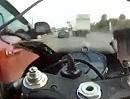 Verkehrsunfall Motorrad vom Rechtsabbieger abgeräumt - Scheiss Geräusch