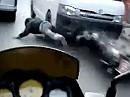 Verkehrsunfall - vor Kleinbus gerutscht - mehr Glück als Verstand