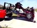 Honda Gold Wing Trike verladen - Wohnzimmer-Transport