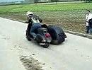 Extremtuning - Vespa Seitenwagen Terror mit 500ccm Kawasaki Motor *lol*