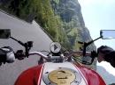 Via Ampola (SS240) nach Storo (Trentino, Italien) mit Ducati Monster - geile Strecke