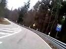 Vom Johanniskreuz die B 48 in Richtung Hochspeyer