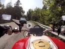 Von Breno aus auf den Croce Domini mit Ducati Monster