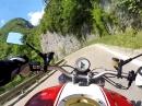 Von Stenico (Italien) Richtung Tione als Schluchtenflitzer unterwegs / Ducati Monster