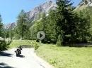 Vrsic Pass (Nordrampe) in Slowenien