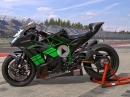 Gewaltige Waffe: Kawasaki H2 Umbau von Bikeshop Lüchow