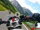 Walsertal von Damüls bis Au. Triumph Street Triple, BMW S1000RR