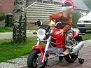 Weihnachtsgeschenk für Ducati-Kids: Elektro Monster - früh übt sich ...