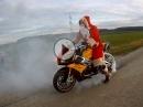 Weihnachtsmann auf Speed mit Tuono - Heiligabendspäßchen !