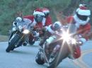 Weihnachtsmann on Tour - ohne Rentiere, sondern artgerecht