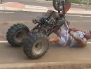 Wenn ein Burnout nahtlos in einen Crash übergeht ...