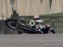 "What a shame"" Troy Corser zerlegt BMW R5SS (1937) in Goodwood"