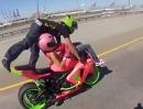 Wheelie 69 auf Autobahn. Flotter Zweier mit Adrenalin Garantie