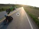 Wheelie Crash: Überzogen, abgeflogen - Lack leicht verkratzt