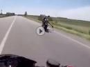 Wheelie Crash - geiler Save - Remember Randy Mamola?!