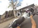 Wheelie Crash: Ist das Wheelie überissen, wird in den Asphalt gebissen