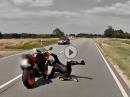 Wheelie Crash mit Glück - Ride Safe!  Überschätze niemals Deine Fähigkeiten