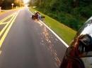 Wheelie Crash mit Schürfing - nur nicht loslassen