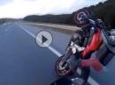 Wheelie Crash mit Yamaha MT07 auf der Autobahn - Volldepp