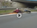 Wheelie Crash: - No Pain no Glory - dumm gelaufen ...