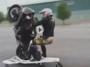 """Wheelie Crash: """"Üb mit der Maschine"""" haben sie gesagt ..."""