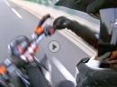Wheelie Crash: Wheelie, falsch aufgesetzt, Lenkerschlagen - ab die Luzzi