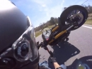 Wheelie Crash. Wheelie massiv überzogen, extrem schmerzhaft abgeflogen ...