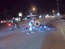 Wheelie Crash: Wird das Wheelie überrissen, wird in den Asphalt gebissen