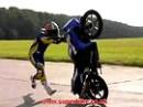 Wheelie Honda CBR 125 - das üben wir auch nochmal ;-)