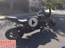 Wheelie + Kanaldeckel = Crash! Dumm gelaufen, Schürfing
