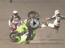 Wheelie, Seitenwind, Mega Highsider - Fahrer OK Bike: Kernschrott