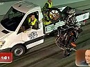"""Wheelie und Radwechsel. Lothar Schauer bei """"Wetten dass"""""""