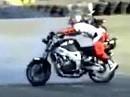 Wheelie Crash / Rodeo Ritt Wichtig: Niemals nie das Motorrad loslassen.
