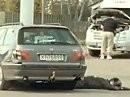 Unfallverhütung makaber: Motorradfahrer werden übersehen! Unfall! - GENIAL gemacht!