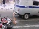 Wie geil ist das denn? Polizei Motorrad Sicherstellung auf die brutale Art