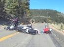 Wildpferde auf der Bahn, übler Crash / New Mexico