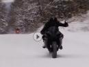 Winter kann kommen - Yamhah R1 im Schnee - Juchee