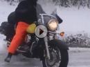 Winterfahrer: Chopperfahrer sind die Harten - Schnee Donut