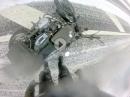 Winterfahrt geht schief - Hercules K125BW, Vorderbremse, Crash