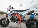 Wir bauen ein Pitbike: Motor einbauen, Bremsen, Lenker, Dekor, Mototech bei APEX Pitbikes