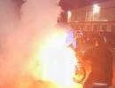 Wird ein Motorrad Motor maltretiert, mit lautem Knall er explodiert