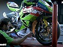 World Supersport Kawasaki Provec Team 2010 aud ZX-6R - sehr coole Idee