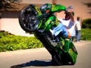 Würdiges Harley Wheelie - Einrad - Eisenhaufen