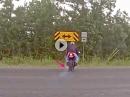 Yamaha Crash - Wer nur hinten in die Eisen packt, verkackt