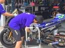 MotoGP Yamaha M1 2016 - Funktionsscheck für Sepang Test