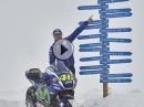 Yamaha MotoGP M1 im Tiefschnee, geile Aktion, geile Bilder - TheM1GoesSkiing