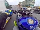 """Yamaha MT-09 Speed und Wheelies auf der Autobahn. """"Bin spät drann"""""""