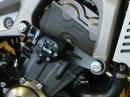 Yamaha MT09: Montage von Metisse Sturzpads, Schwingen- und Gabelschützern